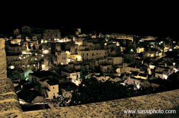 Notturno - i sassi di Matera