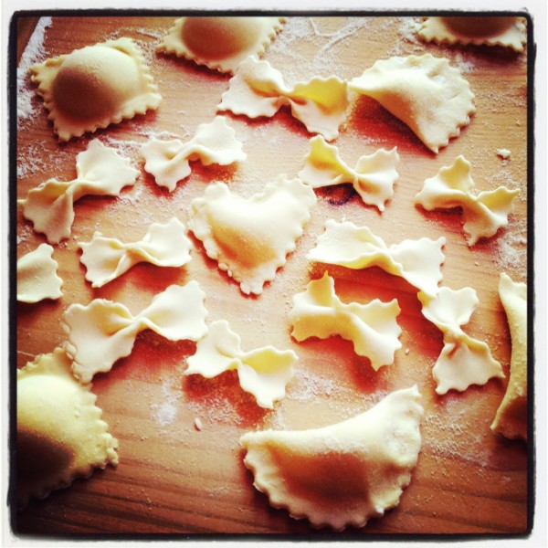 ricetta lucana-ravioli di ricotta dolce al sugo