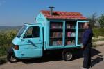 Un Bibliomotocarro in giro per la Basilicata