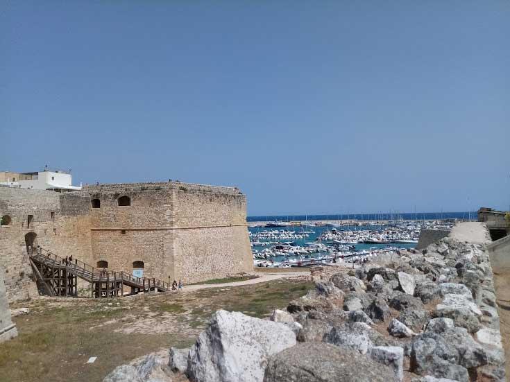 Vista castello di Otranto