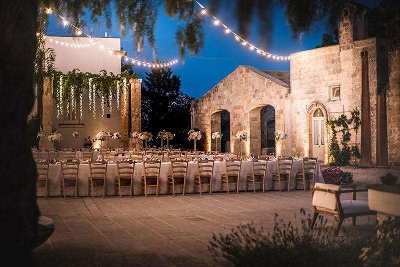 Matrimonio di sera Masseria Casina Calo Casorano