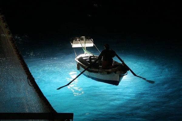 lampare barche per la pesca